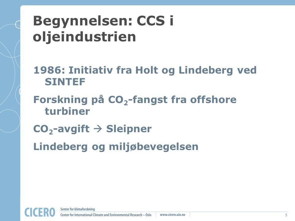 Begynnelsen: CCS i oljeindustrien
