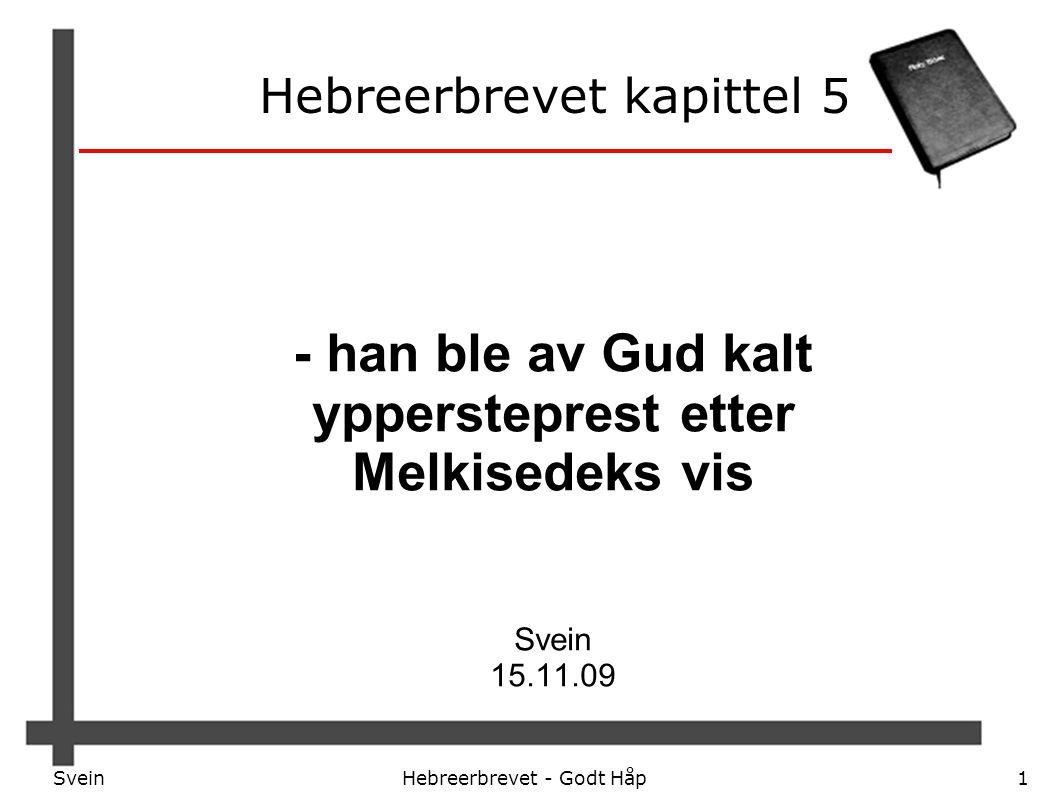Hebreerbrevet kapittel 5