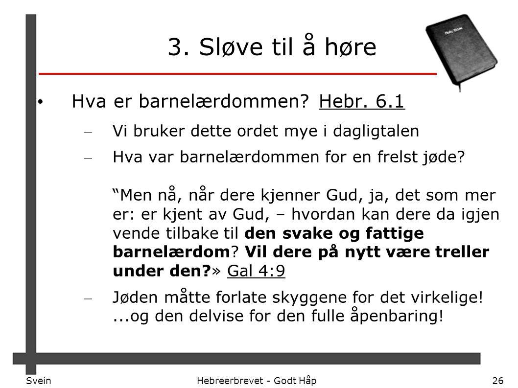 Hebreerbrevet - Godt Håp