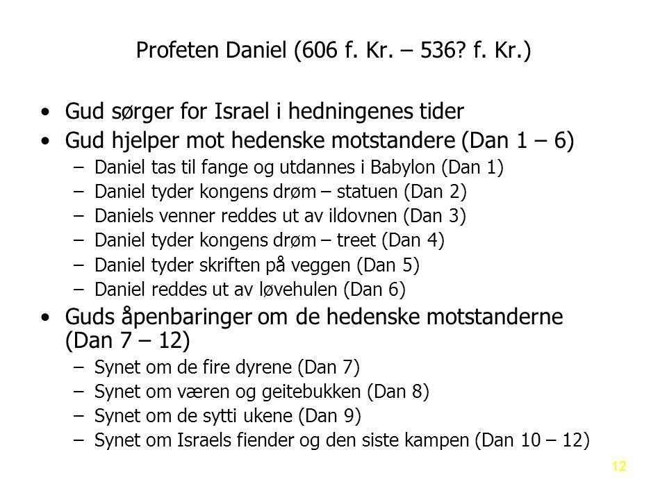 Profeten Daniel (606 f. Kr. – 536 f. Kr.)
