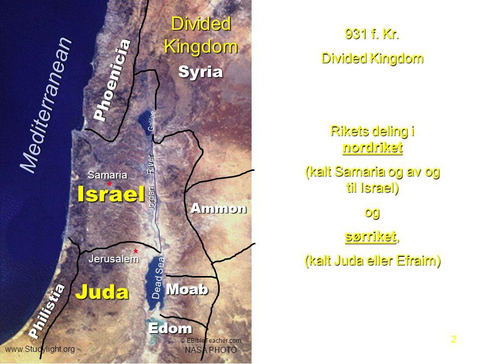 Mediterranean Israel Juda Divided Kingdom Phoenicia Syria Moab Edom