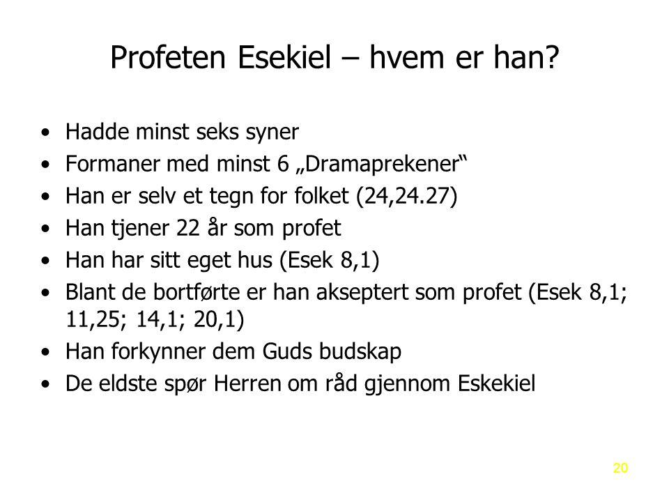 Profeten Esekiel – hvem er han