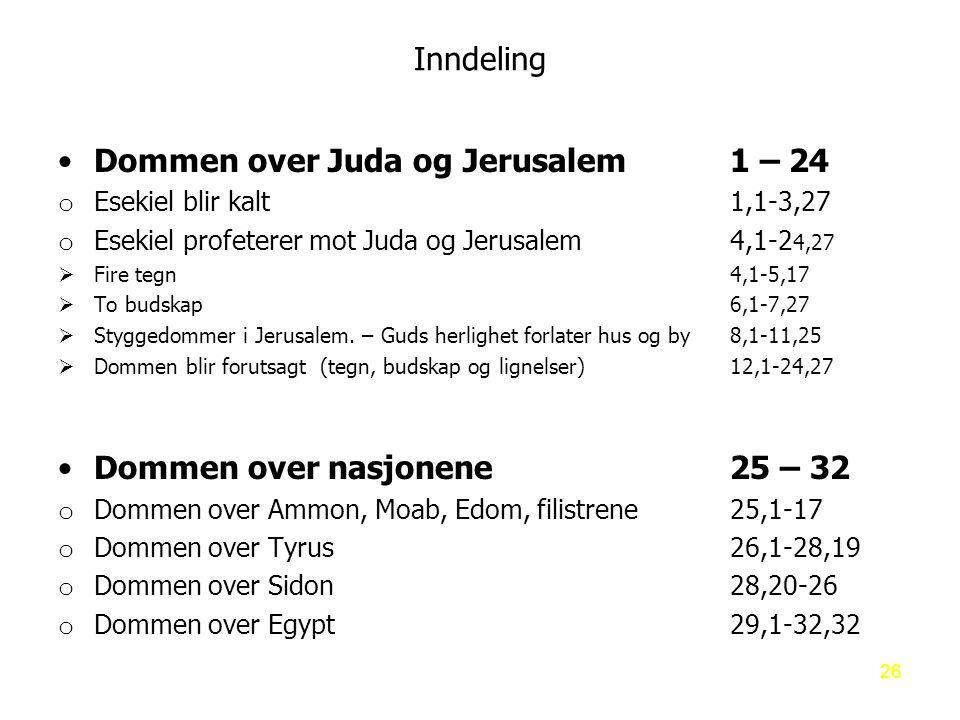 Dommen over Juda og Jerusalem 1 – 24