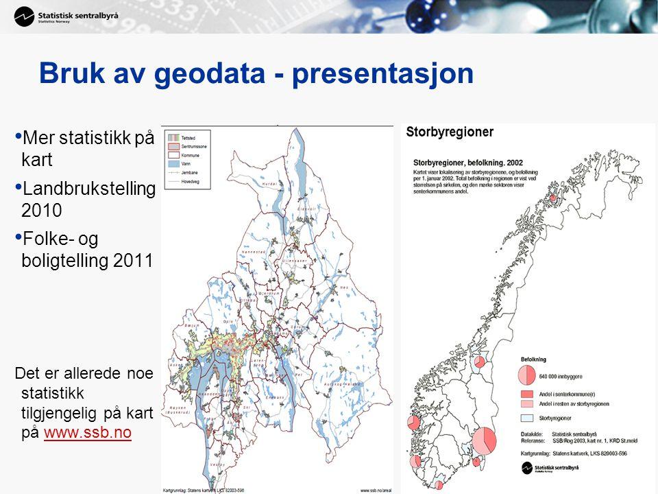 Bruk av geodata - presentasjon