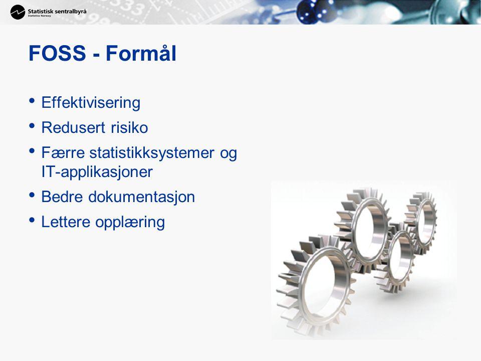 FOSS - Formål Effektivisering Redusert risiko