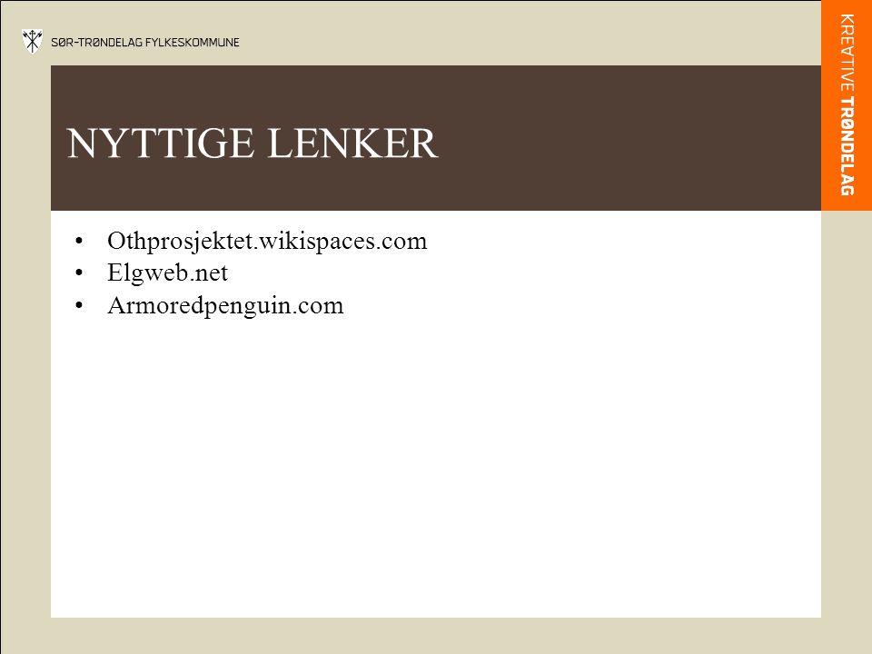 NYTTIGE LENKER Othprosjektet.wikispaces.com Elgweb.net