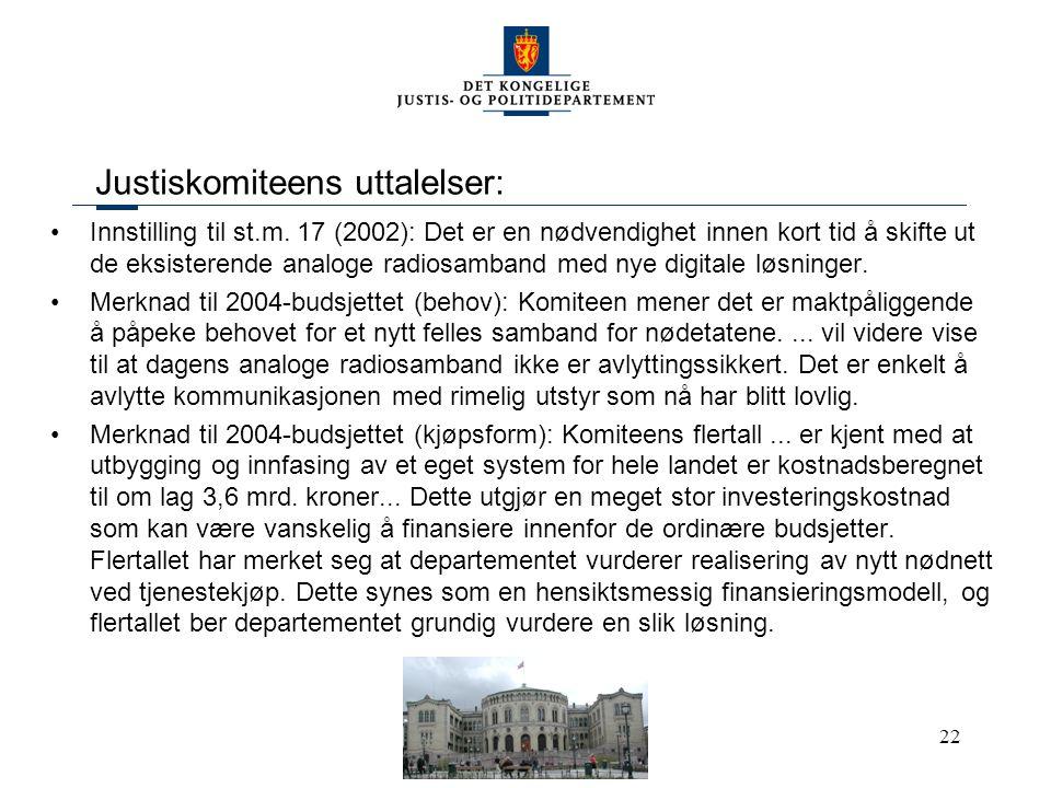 Justiskomiteens uttalelser: