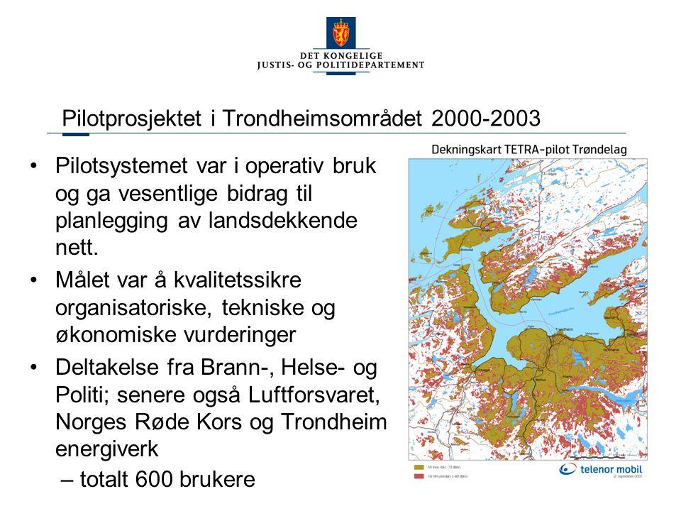 Pilotprosjektet i Trondheimsområdet 2000-2003