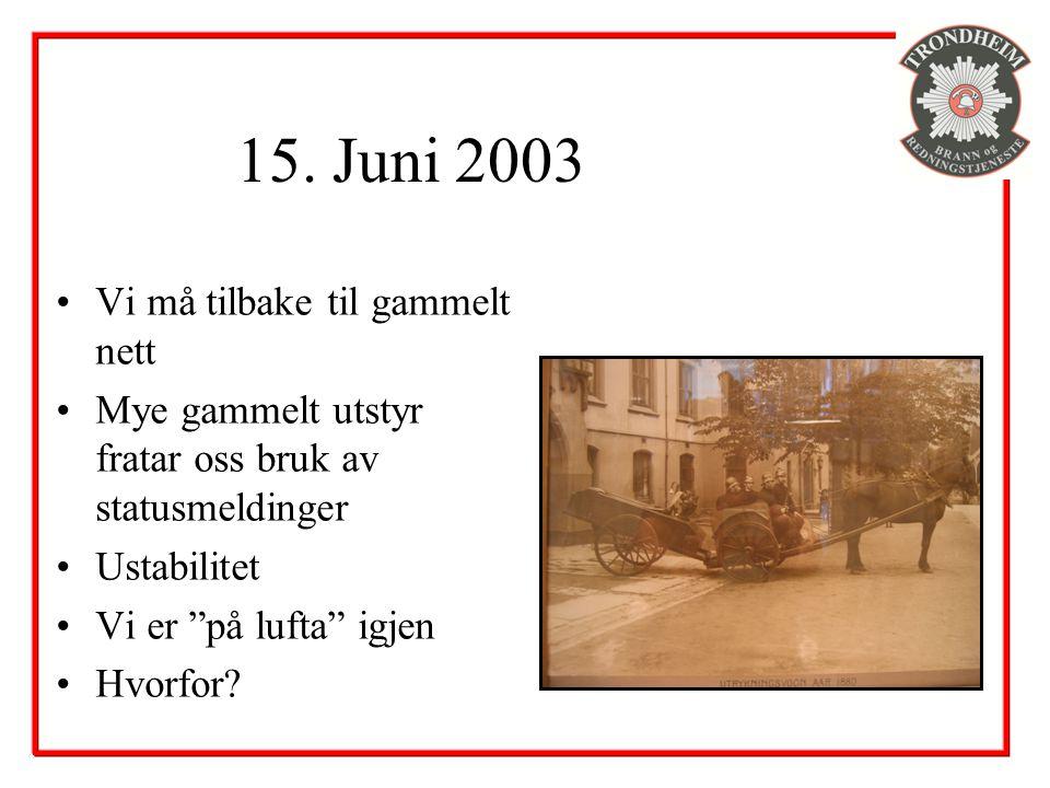 15. Juni 2003 Vi må tilbake til gammelt nett
