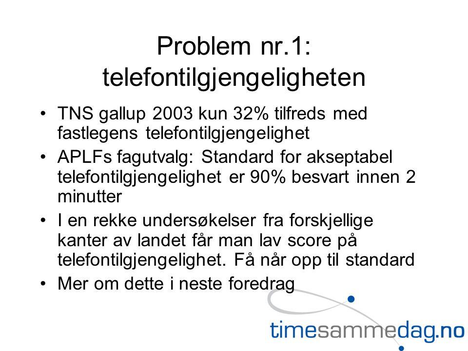 Problem nr.1: telefontilgjengeligheten