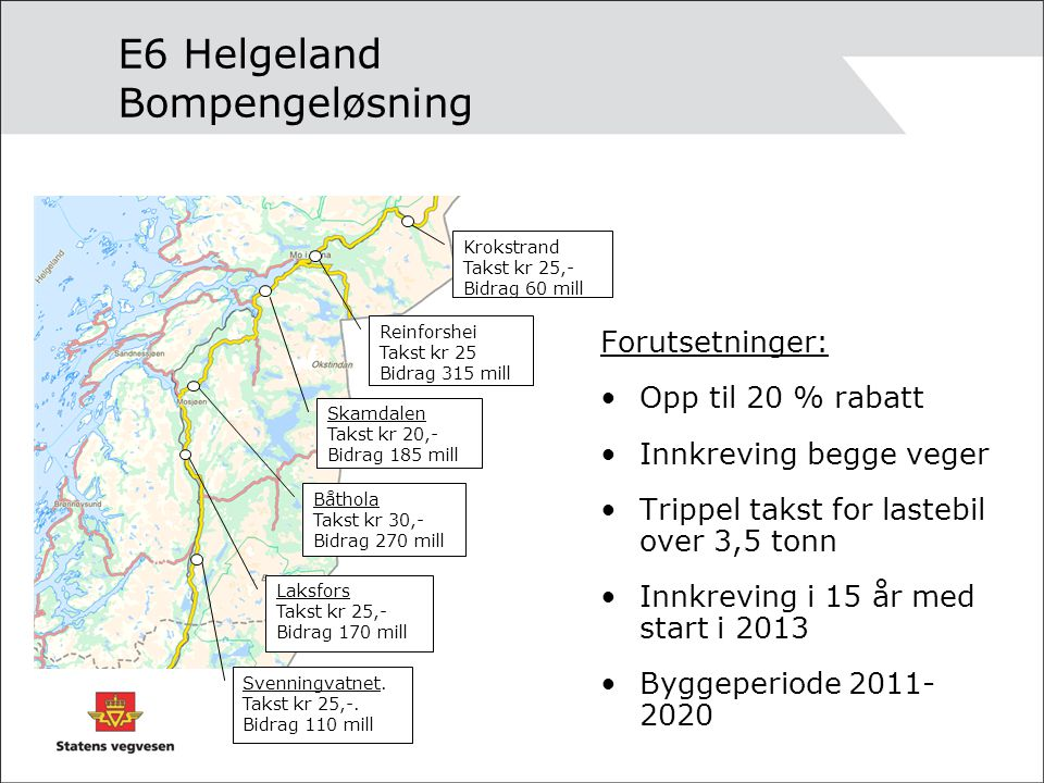 E6 Helgeland Bompengeløsning