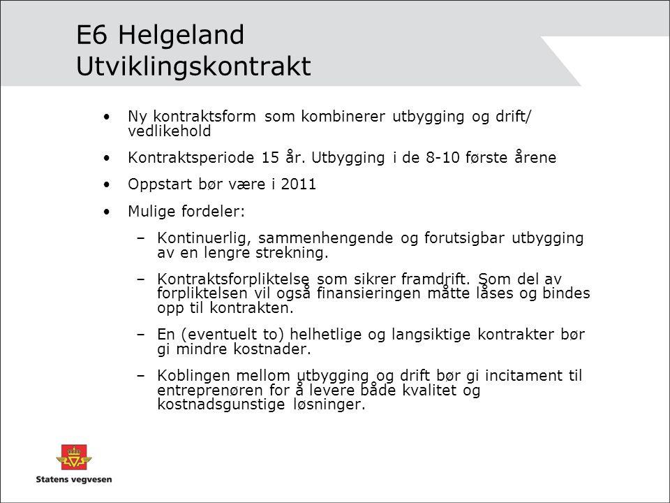 E6 Helgeland Utviklingskontrakt