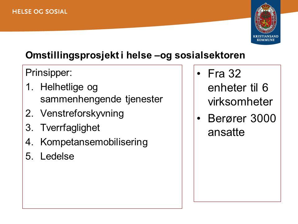 Omstillingsprosjekt i helse –og sosialsektoren