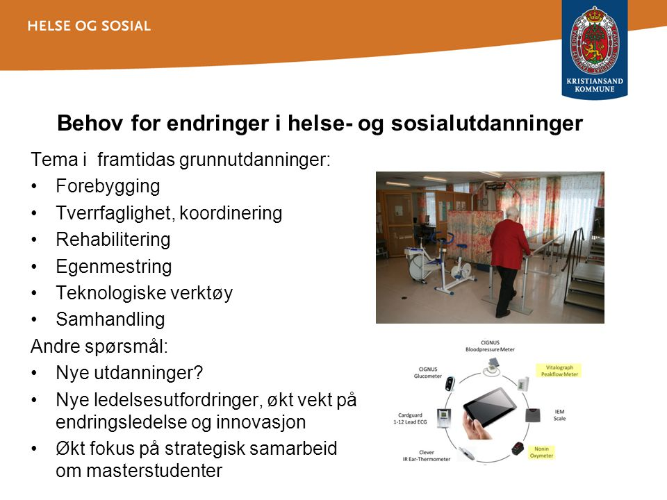 Behov for endringer i helse- og sosialutdanninger