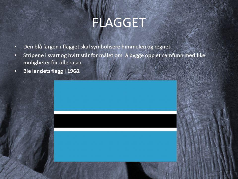 FLAGGET Den blå fargen i flagget skal symbolisere himmelen og regnet.