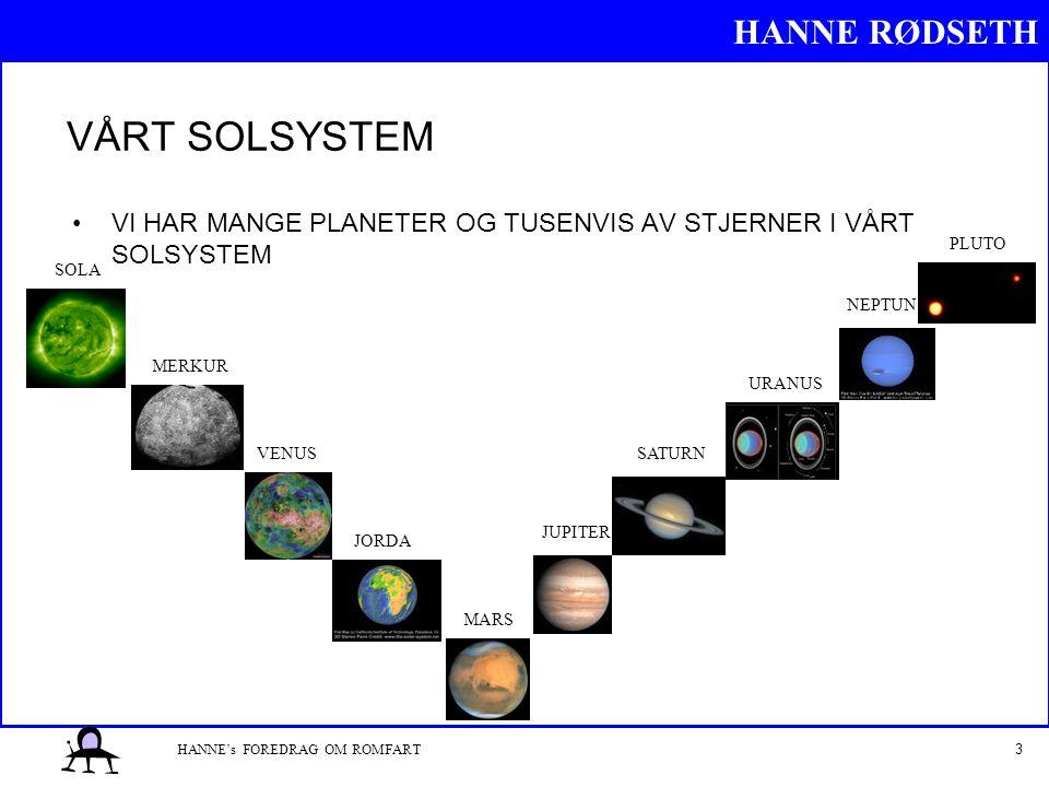 VÅRT SOLSYSTEM VI HAR MANGE PLANETER OG TUSENVIS AV STJERNER I VÅRT SOLSYSTEM. PLUTO. SOLA. NEPTUN.