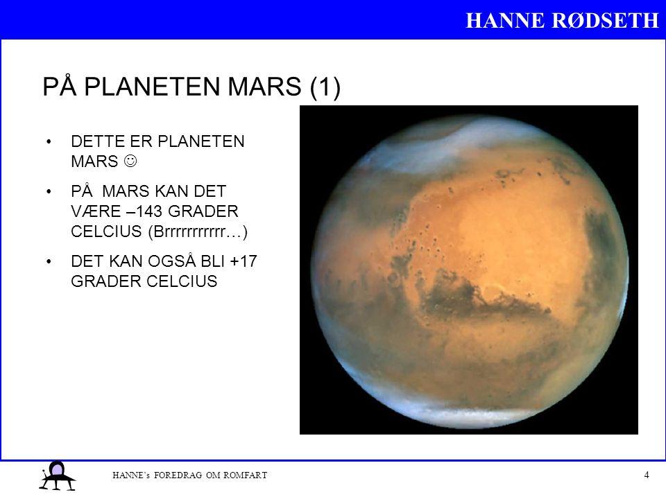 PÅ PLANETEN MARS (1) DETTE ER PLANETEN MARS 