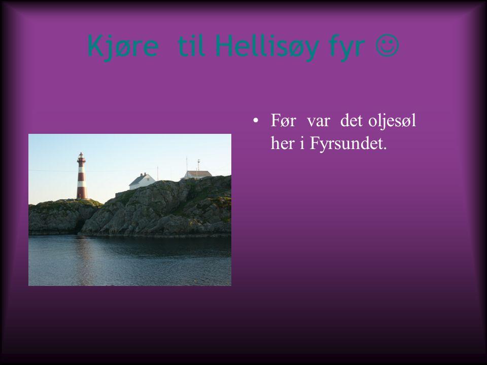 Kjøre til Hellisøy fyr 