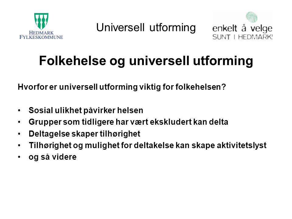 Folkehelse og universell utforming