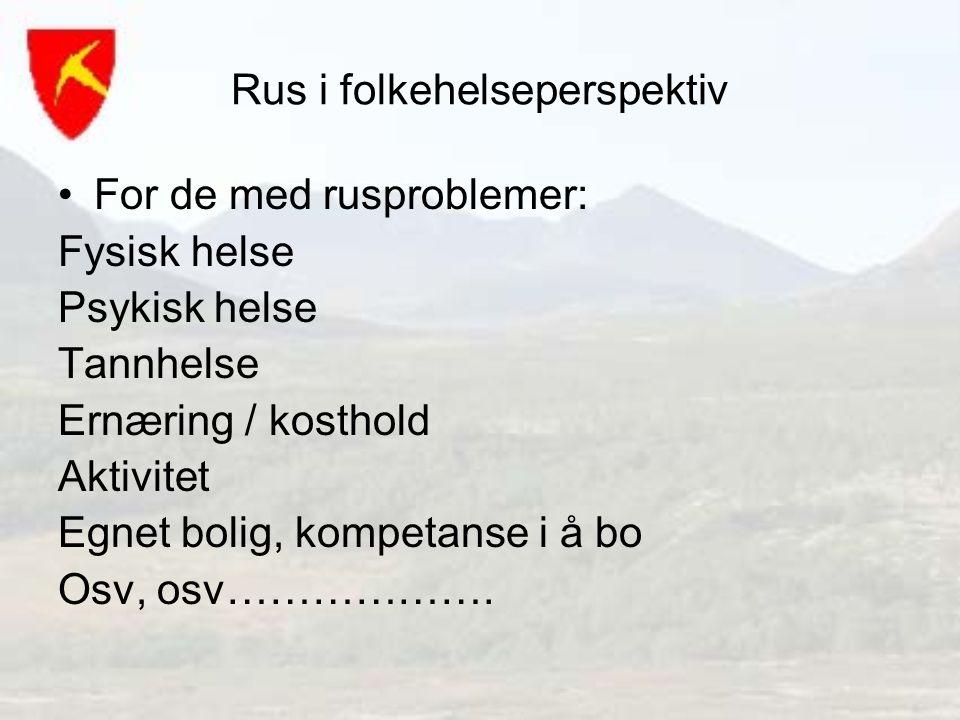 Rus i folkehelseperspektiv
