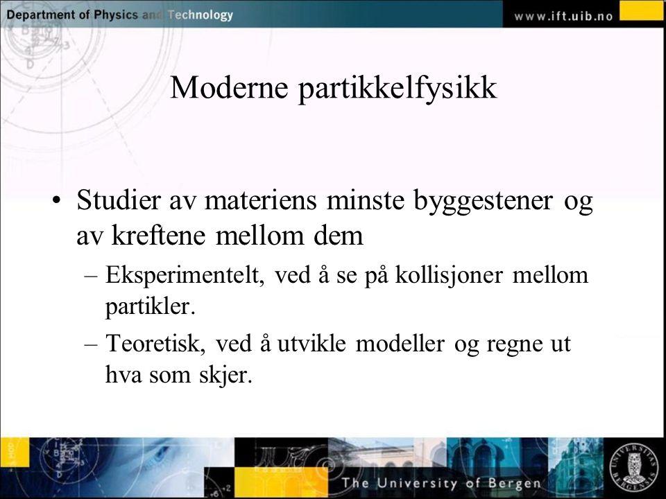 Moderne partikkelfysikk