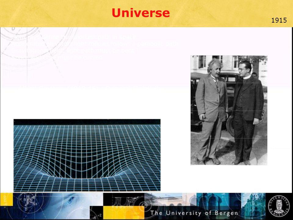 Universe Albert Einstein (1912-15) : General Relativity 1915