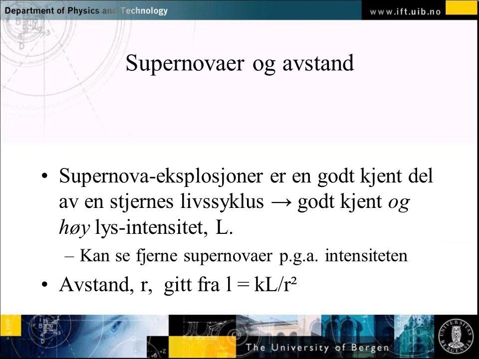 Supernovaer og avstand