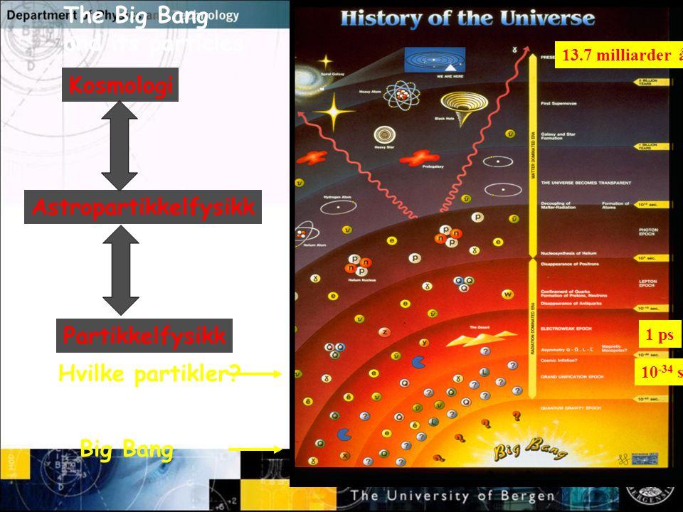The Big Bang and its particles