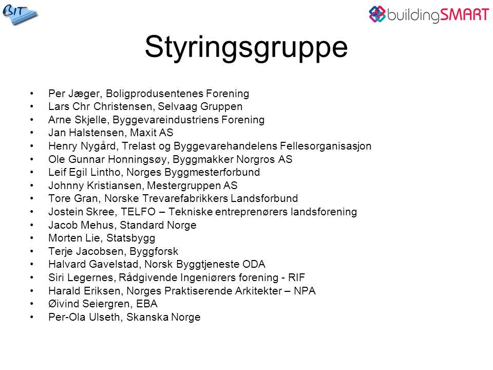 Styringsgruppe Per Jæger, Boligprodusentenes Forening