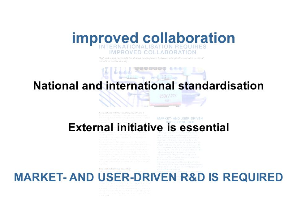 Internationalisition requires improved collaboration