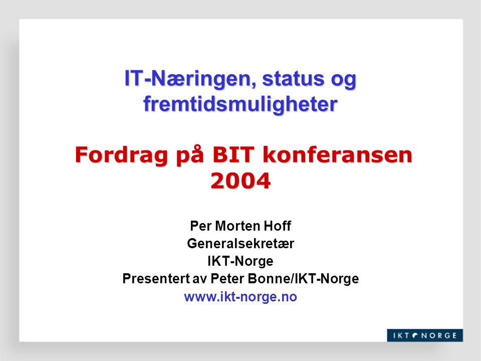 Presentert av Peter Bonne/IKT-Norge
