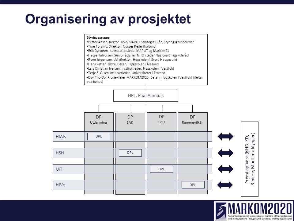 Organisering av prosjektet