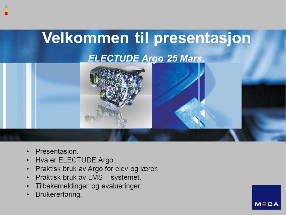 Velkommen til presentasjon