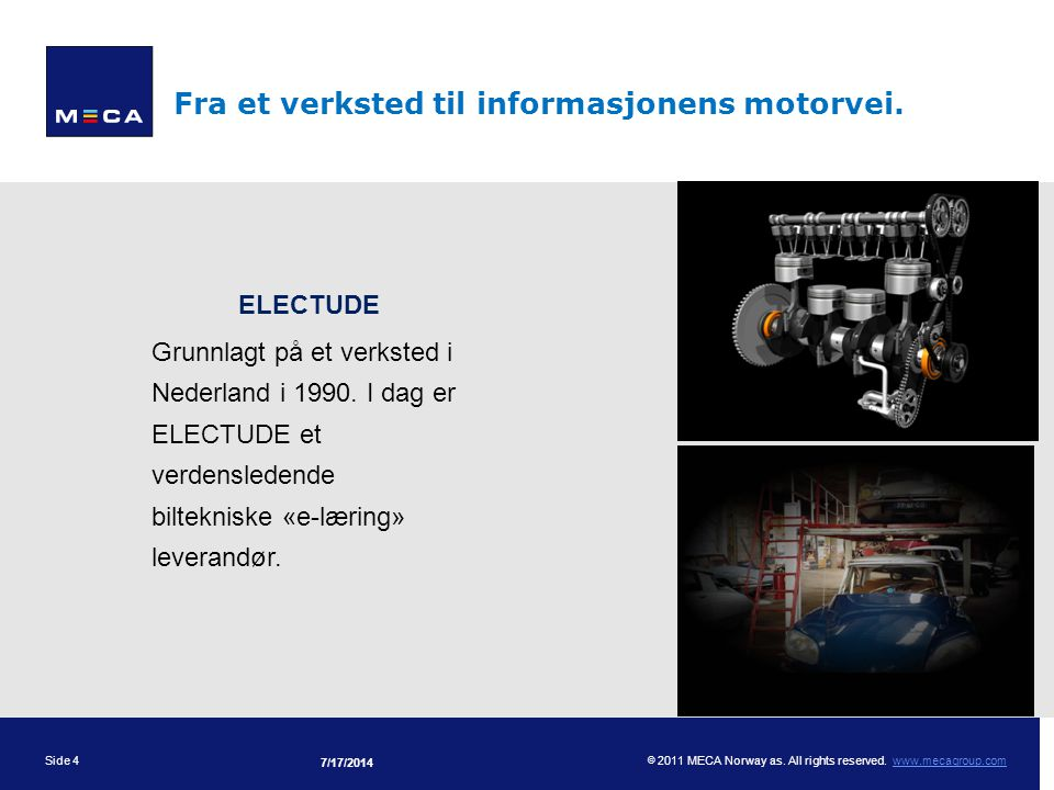 Fra et verksted til informasjonens motorvei.