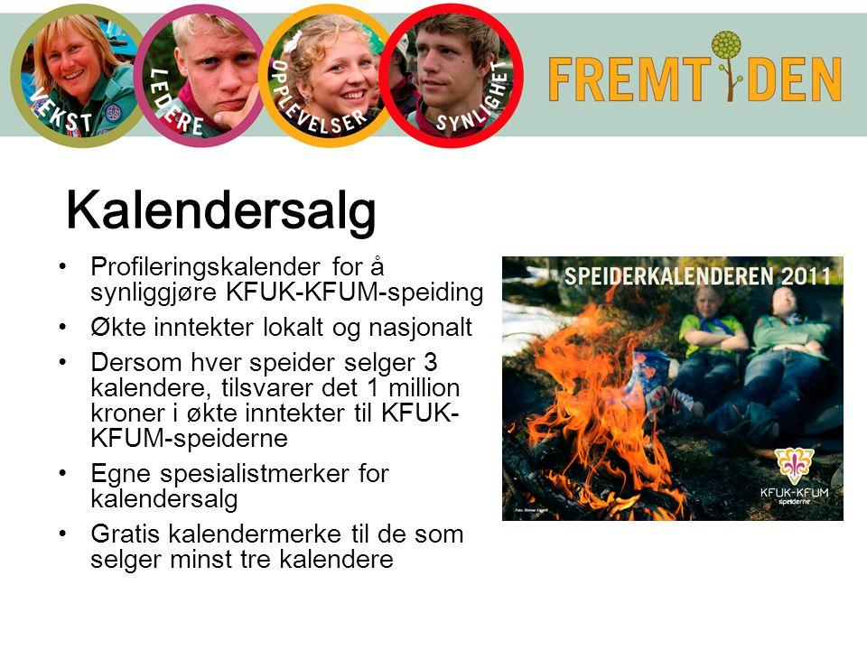 Kalendersalg Profileringskalender for å synliggjøre KFUK-KFUM-speiding