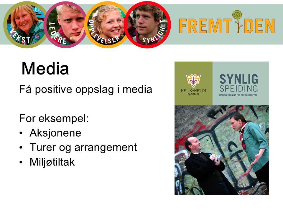 Media Få positive oppslag i media For eksempel: Aksjonene