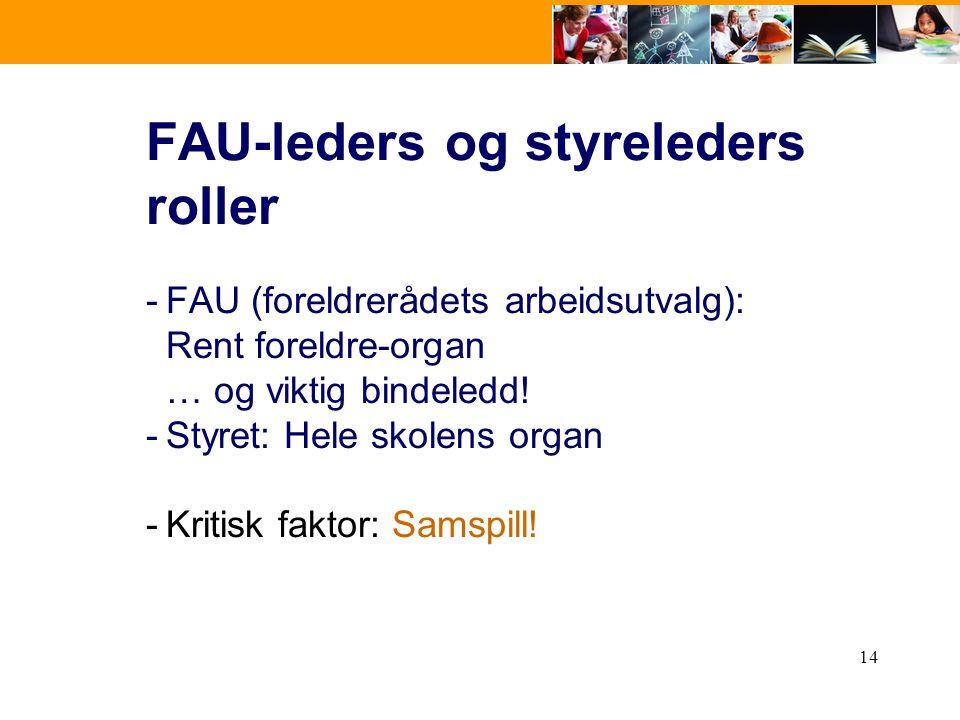 FAU-leders og styreleders roller