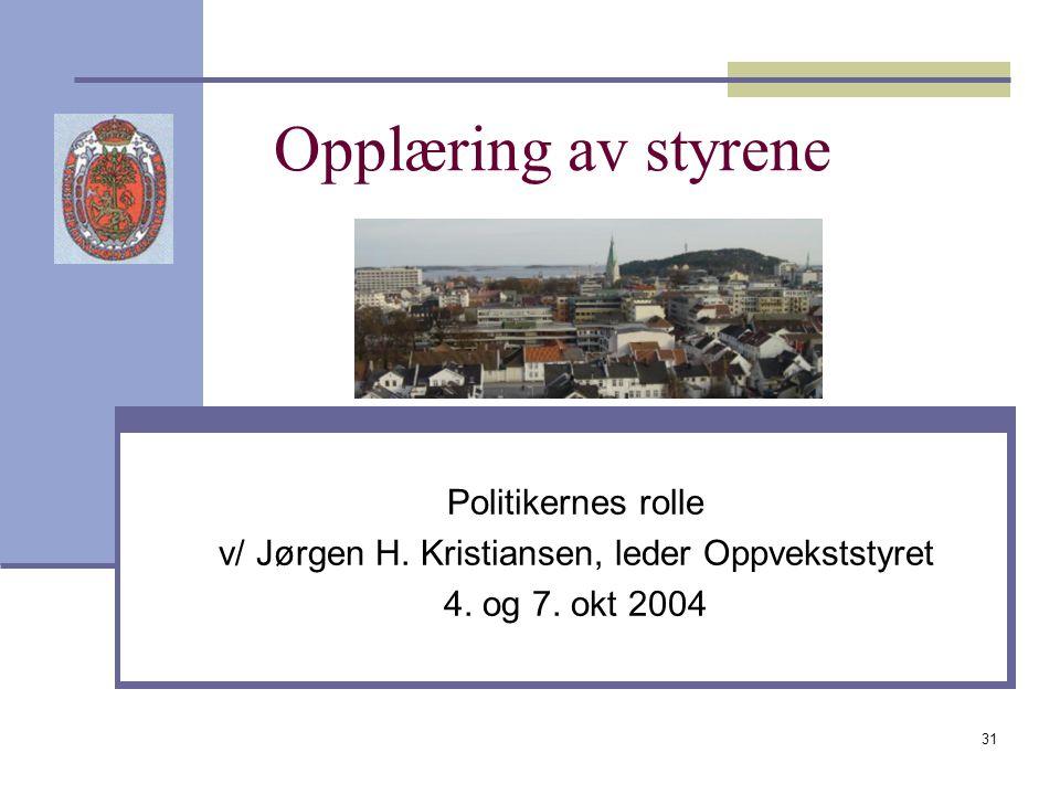 v/ Jørgen H. Kristiansen, leder Oppvekststyret