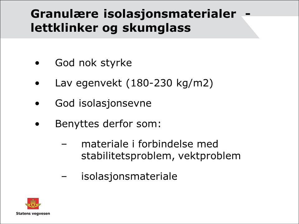 Granulære isolasjonsmaterialer - lettklinker og skumglass