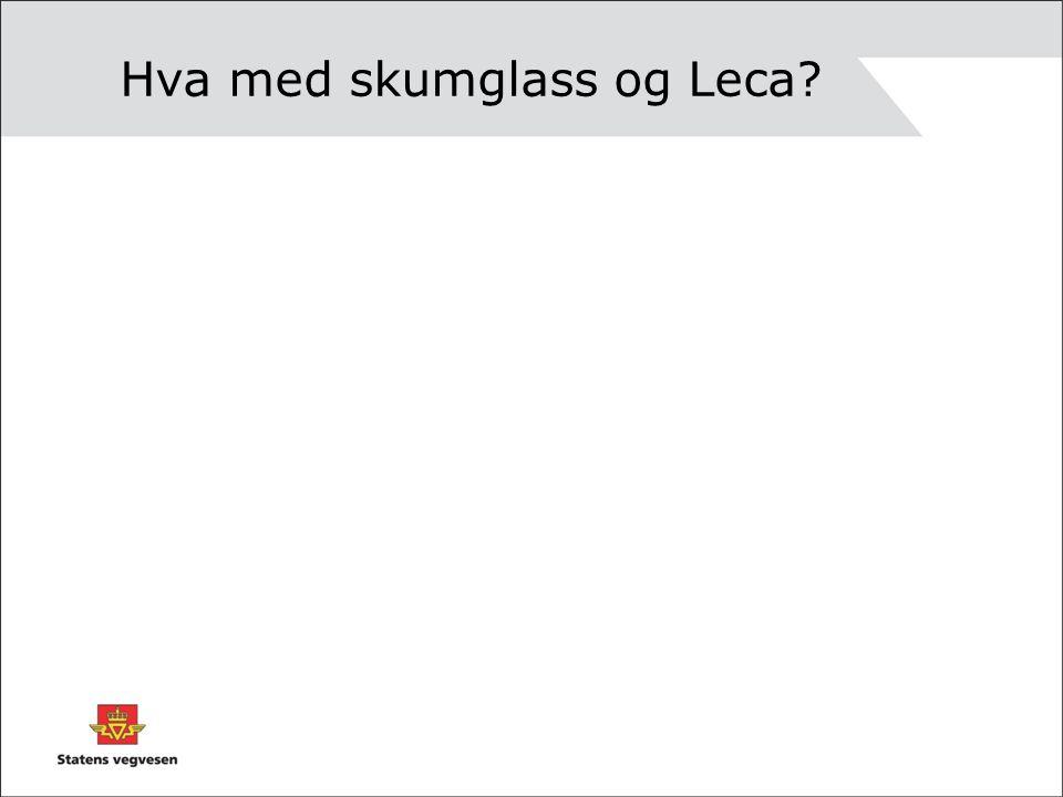 Hva med skumglass og Leca