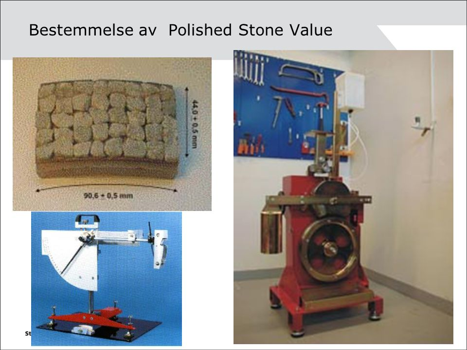 Bestemmelse av Polished Stone Value