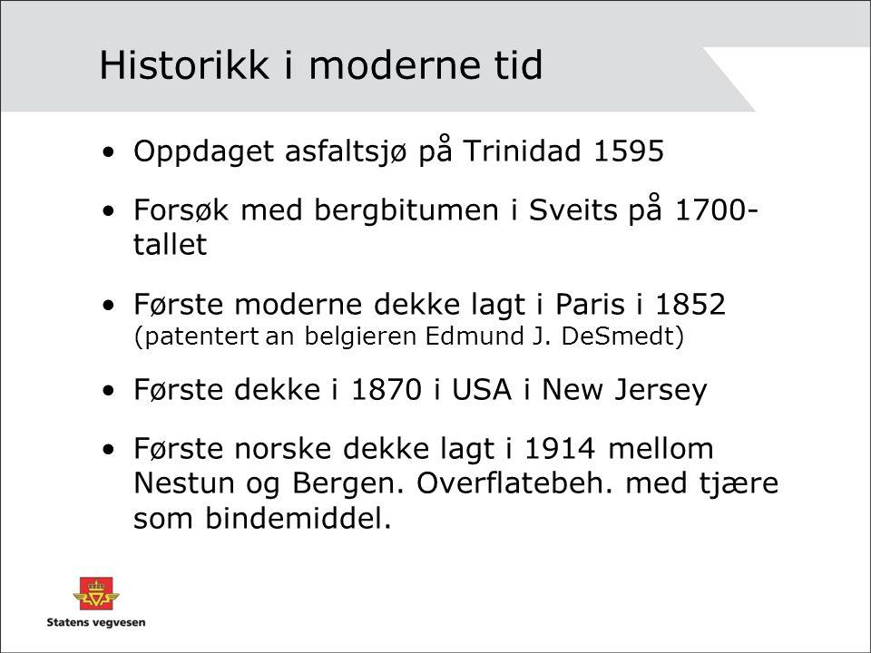 Historikk i moderne tid