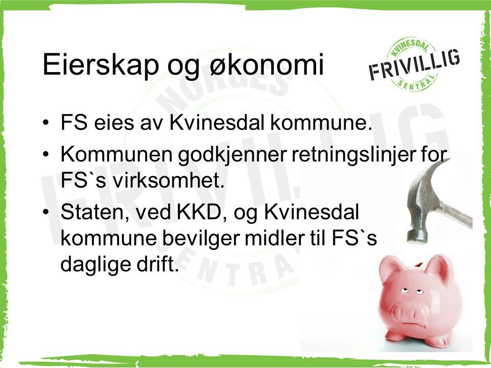 Eierskap og økonomi FS eies av Kvinesdal kommune.
