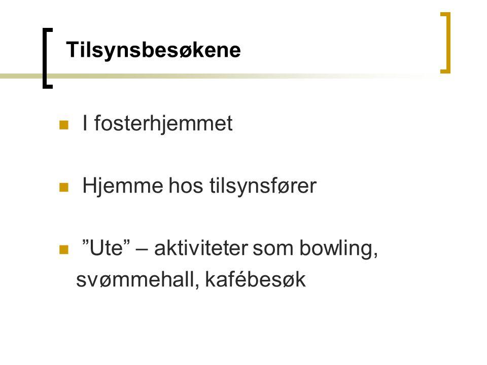 Hjemme hos tilsynsfører Ute – aktiviteter som bowling,