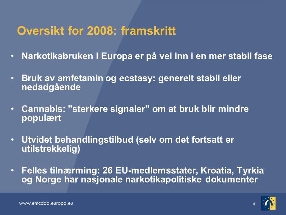 Oversikt for 2008: framskritt