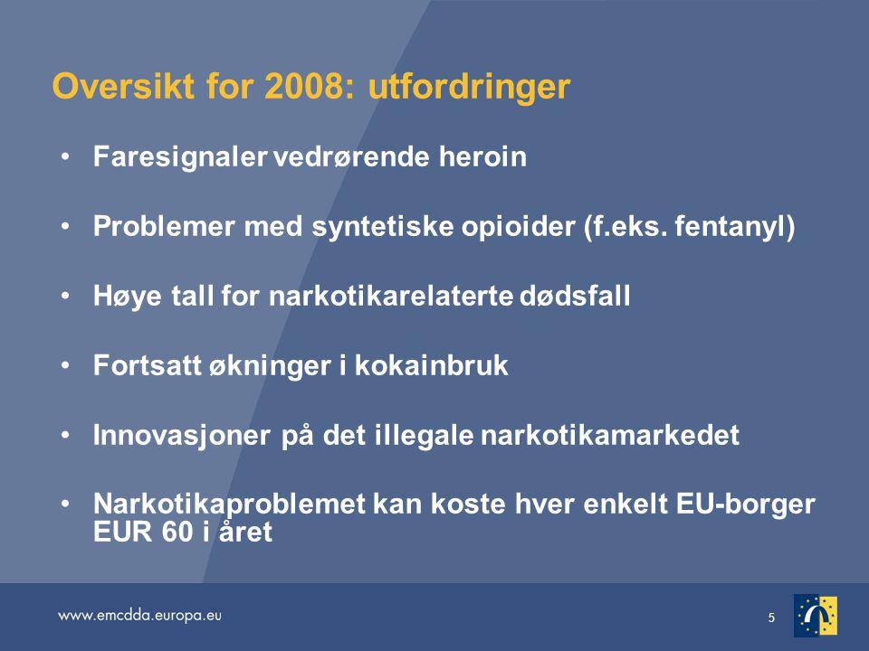 Oversikt for 2008: utfordringer