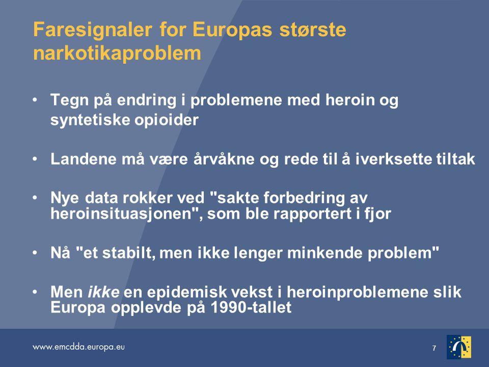 Faresignaler for Europas største narkotikaproblem