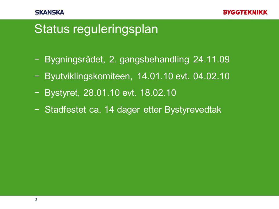 Status reguleringsplan