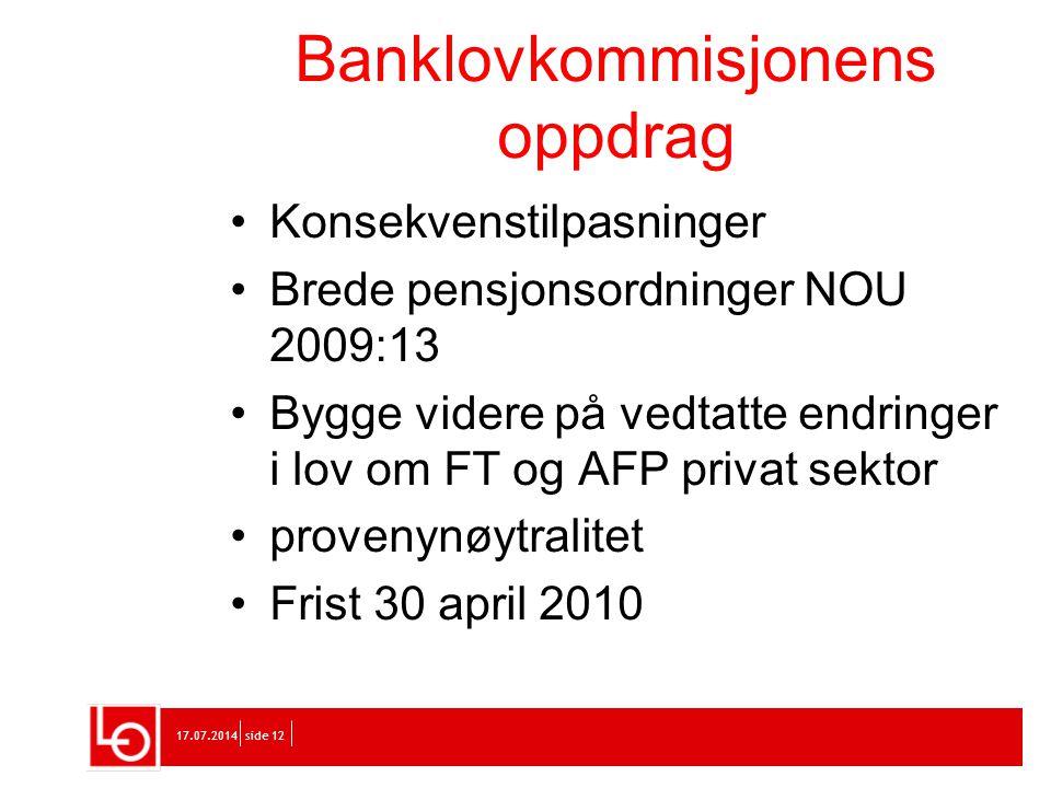 Banklovkommisjonens oppdrag