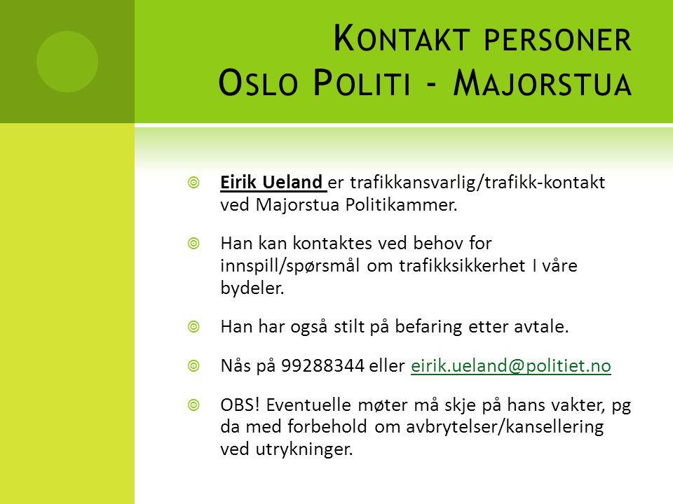 Kontakt personer Oslo Politi - Majorstua